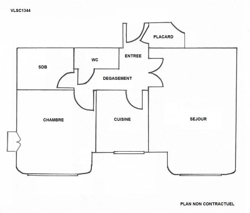 appartement 2 pièces NICE CENTRE - VENTE EN VIAGER LIBRE LOUE (avec perception de loyer)