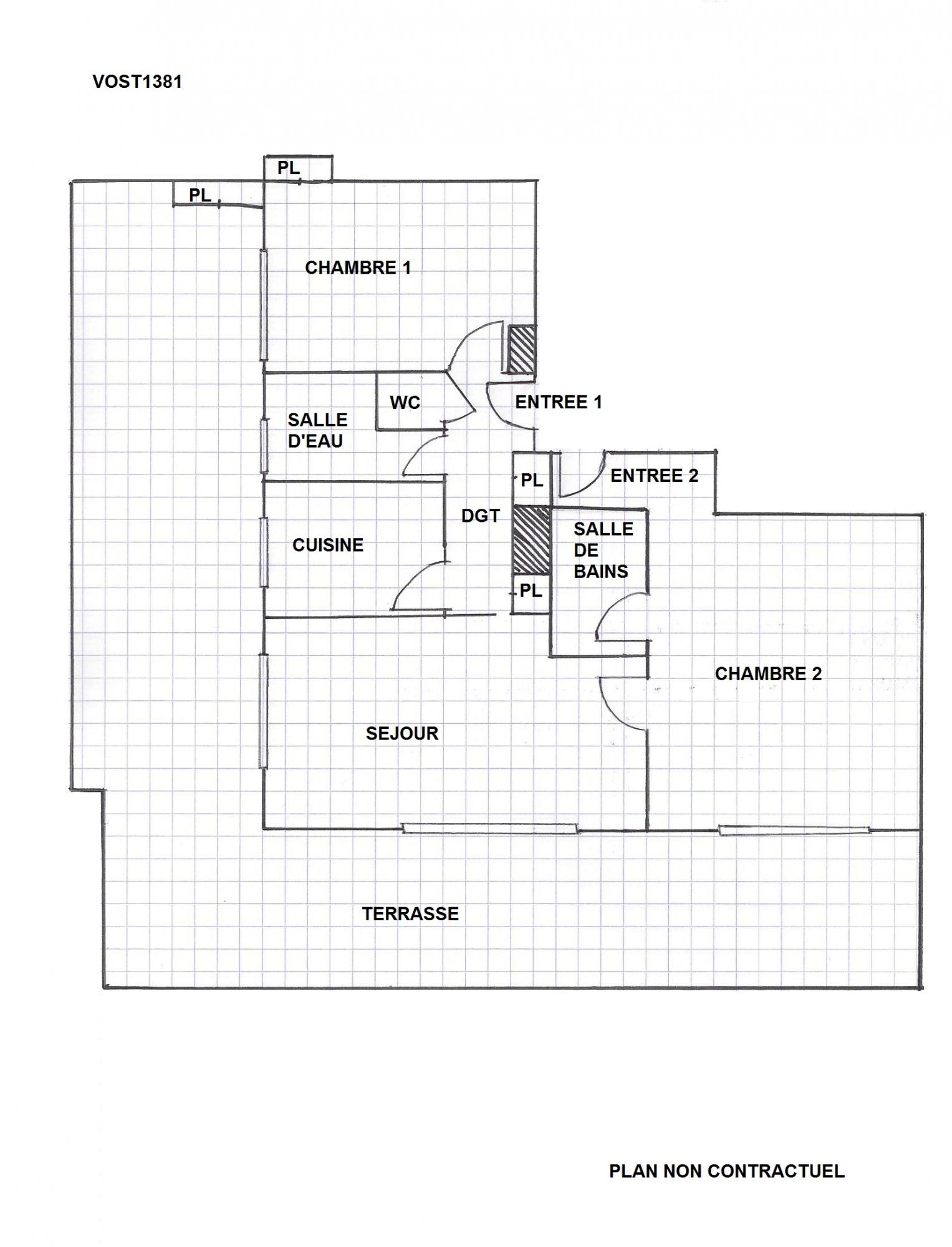 VIAGER OCCUPE appartement 3 pièces NICE Comte de Falicon